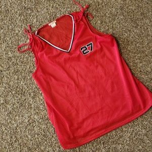 Red Jersey tank